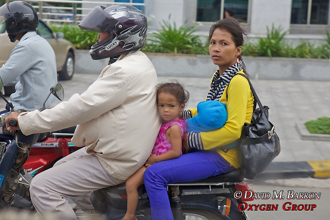 Family On Motor Bike