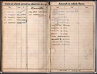 BNPS.co.uk (01202 558833)<br /> Pic: IAA/BNPS<br /> <br /> Sumpter logbook lists the various aircraft he flew on.<br /> <br /> A fascinating and historic logbook and photographs from a Dambuster's hero who also went on many other famous raids during WW2 has come light. <br /> <br /> The remarkable collection belonged to Flight Sergeant Leonard Sumpter who was a bomb aimer on the iconic Dam's mission, and put together a unique scrapbook of his thrilling wartime career in Bomber Command's most famous squadron.<br /> <br /> As well as the bouncing bomb sortie, the ace bomb aimer also dropped Barnes Wallis's later invention's of massive Tallboy and Grand Slam 'bunker busting' bombs, the largest non nuclear warheads of the war.<br /> <br /> Only the elite 617 squadron were entrusted with delivering these hugely valuable weapons onto their vital targets, that included U-boat pens, V2 rocket sites and even Hitler's Bavarian hideaway the Eagles Nest.<br /> <br /> Also included are pictures Mr Sumpter took in 1947 during a summer excusion to visit some of the sites he had attacked during the conflict.<br /> <br /> Flt Sgt Sumpter's daughter has decided to put the photo album up for auction together with his logbook and his personal scrapbook.
