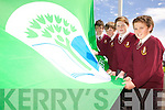 Pupils and staff from Holy Family school who raised their new Green Flag on Wednesday morning. PIctured from l to r were: Ciara?n O'Reilly, Mark Donovan, Shane Walsh and Nathan O'Leary.