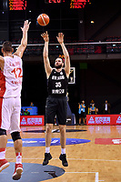 New Zealand Tall Blacks' Alex Pledger in action during the FIBA World Cup Basketball Qualifier - NZ Tall Blacks v Syria at TSB Bank Arena, Wellington, New Zealand on Sunday 2 2018. <br /> Photo by Masanori Udagawa. <br /> www.photowellington.photoshelter.com