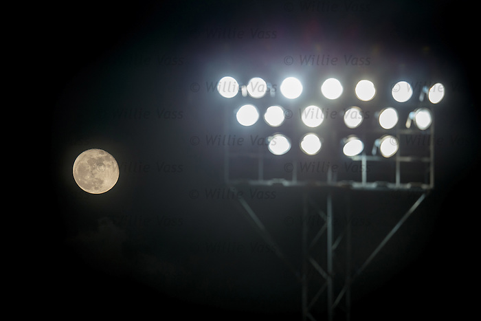 238,900 miles away and the moon is still brighter than the Morton floodlights