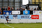Yorkshire's Brodie Litchfield takes a corner. Yorkshire v Parishes of Jersey, CONIFA Heritage Cup, Ingfield Stadium, Ossett. Yorkshire's first competitive game. The Yorkshire International Football Association was formed in 2017 and accepted by CONIFA in 2018. Their first competative fixture saw them host Parishes of Jersey in the Heritage Cup at Ingfield stadium in Ossett. Yorkshire won 1-0 with a 93 minute goal in front of 521 people.