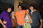 "John and Fiona pose with his mom Jeanie and sons Trevor and Hutch (R- older) on Opening Night - God of Carnage - June 21, 2012 and continues through August 3. Fiona Hutchison (Guiding Light, One Life To Live) and husband John Viscardi (One Life To Live) star in ""God of Carnage"" directed by Roy Steinberg (GL, Days, AMC - director-producer) at The Cape May Stage in Cape May, New Jersey. (Photo by Sue Coflin/Max Photos)"