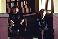 Mystic River (2003)<br /> Sean Penn &amp; Tim Robbins<br /> *Filmstill - Editorial Use Only*<br /> CAP/KFS<br /> Image supplied by Capital Pictures