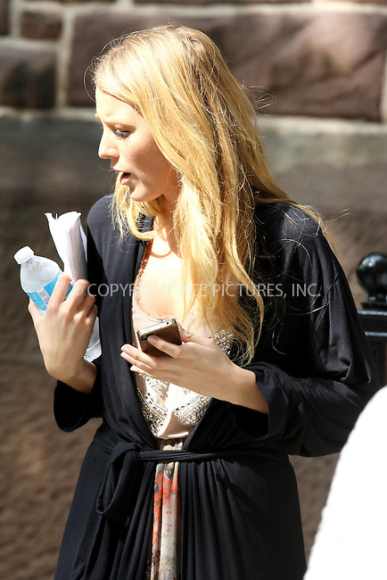 WWW.ACEPIXS.COM . . . . .  ....August 2, 2012 New York City....Actress Blake Lively on the set of 'Gossip Girl' in New York City on August 2, 2012.....Please byline: PHILIP VAUGHAN - ACE PICTURES.... *** ***..Ace Pictures, Inc:  ..Philip Vaughan (212) 243-8787 or (646) 769 0430..e-mail: info@acepixs.com..web: http://www.acepixs.com