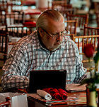 SARATOGA SPRINGS, NY - AUGUST 25: A man handicaps the races on Travers Stakes Day at Saratoga Race Course on August 25, 2018 in Saratoga Springs, New York. (Photo by Scott Serio/Eclipse Sportswire/Getty Images)