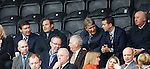 Rangers directors watching on: Gordon Smith, Ali Russell, Sandy Jardine, Andrew Dickson and John McLelland