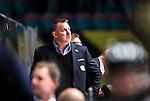Stockholm 2014-10-14 Ishockey Hockeyallsvenskan AIK - Malm&ouml; Redhawks :  <br /> Malm&ouml; Redhawks tr&auml;nare headcoach Mats Lusth ser nedst&auml;md ut<br /> (Foto: Kenta J&ouml;nsson) Nyckelord:  AIK Gnaget Hockeyallsvenskan Allsvenskan Hovet Johanneshov Isstadion Malm&ouml; Redhawks depp besviken besvikelse sorg ledsen deppig nedst&auml;md uppgiven sad disappointment disappointed dejected portr&auml;tt portrait