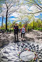 Strawberry Fields (John Lennon Memorial), Central Park, New York, New York USA.