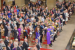 """Wedding of HRH the Hereditary Grand Duke Guillaume and Countess Stéphanie de Lannoy.at the Catherdral of Our Lady of Luxembourg, Luxembourg_20-10-2012.Mandatory credit photo: ©Grand-Ducal Court/Vic Fischbach/NEWSPIX INTERNATIONAL..(Failure to credit will incur a surcharge of 100% of reproduction fees)..                **ALL FEES PAYABLE TO: """"NEWSPIX INTERNATIONAL""""**..IMMEDIATE CONFIRMATION OF USAGE REQUIRED:.Newspix International, 31 Chinnery Hill, Bishop's Stortford, ENGLAND CM23 3PS.Tel:+441279 324672  ; Fax: +441279656877.Mobile:  07775681153.e-mail: info@newspixinternational.co.uk"""