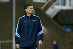 28 November 2015: UNC head coach Carlos Somoano. The University of North Carolina Tar Heels hosted the Creighton University Bluejays at Fetzer Field in Chapel Hill, NC in a 2015 NCAA Division I Men's Soccer Tournament Third Round match. Creighton won the game 1-0.