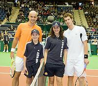 10-2-09,Rotterdam,ABNAMROWTT, Andy Murray I. Ljubicic players escort