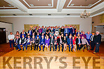 Derry, Margaret and Dermot Cronin (front centre) celebrating 60 years of Cronin's Coaches with their staff at the Skellig Hotel in Dingle on Saturday night.
