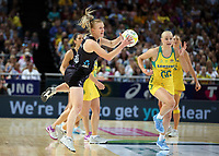 14.10.2017 Silver Ferns Shannon Francois in action during the Constellation Cup netball match between the Silver Ferns and Australia at QudosBank Arena in Sydney. Mandatory Photo Credit ©Michael Bradley.