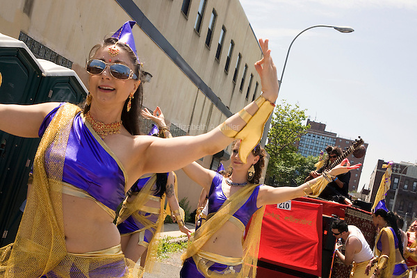 """Participants in the 2010 Mermaid Parade, which """"celebrates the sand, the sea, the salt air and the beginning of summer, as well as the history and mythology of Coney Island, Coney Island pride, and artistic self-expression."""""""