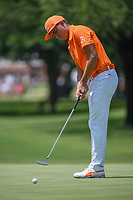 Rickie Fowler (USA) barely misses his birdie putt on 7 during round 4 of the Fort Worth Invitational, The Colonial, at Fort Worth, Texas, USA. 5/27/2018.<br /> Picture: Golffile | Ken Murray<br /> <br /> All photo usage must carry mandatory copyright credit (© Golffile | Ken Murray)