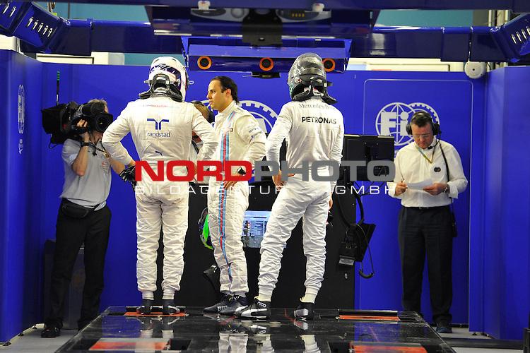 Valtteri Bottas (FIN), Williams F1 Team - Felipe Massa (BRA), Williams GP - Nico Rosberg (GER), Mercedes GP<br />  Foto &copy; nph / Mathis