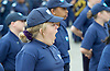 Celebration of record number of young volunteer Police cadets in London aged 10-19 at a ceremony in Trafalgar Square, London, Great Britain 3rd August 2015 <br />  <br /> The Mayor of London Boris Johnson and the Metropolitan Chief Police Commissioner Sir Bernard Hogan-Howe made speeches and met some of the volunteers. <br /> <br /> a cadet yawns during the speeches <br /> <br /> Photograph by Elliott Franks <br /> Image licensed to Elliott Franks Photography Services