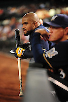 Jun. 30, 2008; Phoenix, AZ, USA; Milwaukee Brewers first baseman Prince Fielder against the Arizona Diamondbacks at Chase Field. Mandatory Credit: Mark J. Rebilas-US PRESSWIRE