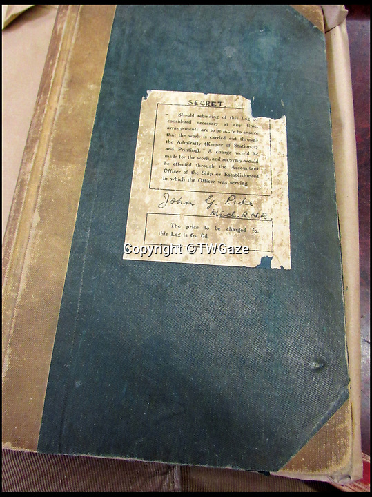 BNPS.co.uk (01202 558833)<br /> Pic: TWGaze/BNPS<br /> <br /> Midshipman John Pike's WW2 logbook.<br /> <br /> A forgotten account of a tragic incident just as WW2 was finally ending has emerged in the diaries of a British midshipman.<br /> <br /> The officer's log exposes a potential cover up over the deaths of five seamen who were apparently killed in the final salvos of World War Two.<br /> <br /> Midshipman John Pike wrote of how at the very moment the order to cease fire against Japan on August 15, 1945 came through his ship came under attack by a lone kamikaze aircraft.<br /> <br /> The dive bomber fired its machine guns at the quarterdeck of HMS Gambia, prompting the crew to scatter and the ship to fire its guns in retaliation.<br /> <br /> Moments later two American Corsair fighter planes arrived and shot the enemy plane out of the sky. <br /> <br /> With the danger cleared the crew of the navy cruiser gathered themselves and realised that five men had been killed by the machine gun fire.