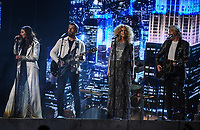 NEW YORK - JANUARY 28: Karen Fairchild, Jimi Westbrook, Kimberly Schlapman and Philip Sweet of musical group Little Big Town perform onstage during the 60th Annual Grammy Awards at Madison Square Garden on January 28, 2018 in New York City. (Photo by Frank Micelotta/PictureGroup)