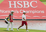 SINGAPORE - MARCH 05:  Yani Tseng of Taiwan walks on the par four 17th hole during the first round of HSBC Women's Champions at the Tanah Merah Country Club on March 5, 2009 in Singapore. Photo by Victor Fraile / The Power of Sport Images