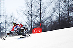 Akira Kano (JPN), <br /> MARCH 14, 2018 - Alpine Skiing : <br /> men's Giant Slalom Sitting <br /> at Jeongseon Alpine Centre  <br /> during the PyeongChang 2018 Paralympics Winter Games in Pyeongchang, South Korea. <br /> (Photo by Sho Tamura/AFLO SPORT)