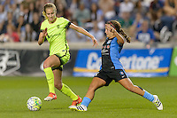 Chicago, IL - Sunday Sept. 04, 2016: Beverly Yanez, Danielle Colaprico during a regular season National Women's Soccer League (NWSL) match between the Chicago Red Stars and Seattle Reign FC at Toyota Park.