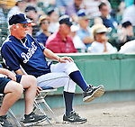 9 March 2012: Detroit Tigers Manager Jim Leyland watches game action during a Spring Training game against the Philadelphia Phillies at Joker Marchant Stadium in Lakeland, Florida. The Phillies defeated the Tigers 7-5 in Grapefruit League action. Mandatory Credit: Ed Wolfstein Photo
