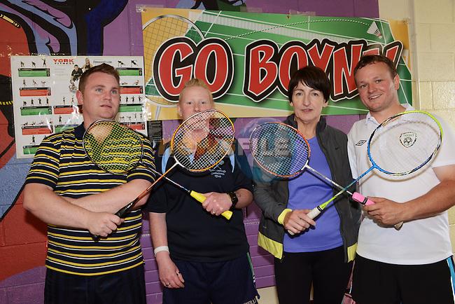 Mark Bermingham,  Carol Manning, Regina Scally and Owen Casey were  grade 6 winners at the Boyne Badminton Club Battle of the Boyne Finals. Photo: Andy Spearman. www.newsfile.ie