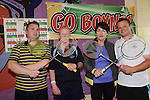 Mark Bermingham,  Carol Manning, Regina Scally and Owen Casey were  grade 6 winners at the Boyne Badminton Club Battle of the Boyne Finals. Photo: Andy Spearman. www.newsfile.ie