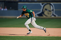 Siena Saints pinch runner Scottie O'Bryan (19) runs the bases during a game against the UCF Knights on February 17, 2019 at John Euliano Park in Orlando, Florida.  UCF defeated Siena 7-1.  (Mike Janes/Four Seam Images)