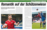 Feature page images in a preview of FC Winterthur v FC United of Manchester in 'EuroSoccer', 02/05/14.