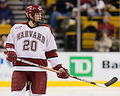Brian McCafferty (Harvard - 20) - The Northeastern University Huskies defeated the Harvard University Crimson 3-1 in the Beanpot consolation game on Monday, February 12, 2007, at TD Banknorth Garden in Boston, Massachusetts.