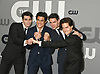 KJ Apa, Charles Melton, Casey Cott and Cole Sprouse from &quot;Riverdale&quot;attends the CW Upfront 2018-2019 at The London Hotel in New York, New York, USA on May 17, 2018.<br /> <br /> photo by Robin Platzer/Twin Images<br />  <br /> phone number 212-935-0770
