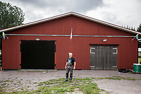 August 30, 2018: LEIF WIGH, a 65 years-old retired welder, poses for photo at his home in Backa neighborhood, located in the countryside of the Gävle municipality. Leif is a voter of the Swedish Democrats (Sverigedemokraterna), a right wing party running in the coming national elections. Gävle municipality, is home of a growing support of the Swedish Democrats (Sverigedemokraterna) in the north of the country.