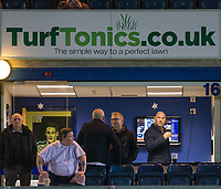 Former England Rugby Player Lawrence Dallaglio (right) in the TurfTonics box ahead of the Sky Bet League 2 match between Wycombe Wanderers and Plymouth Argyle at Adams Park, High Wycombe, England on 14 March 2017. Photo by Andy Rowland / PRiME Media Images.