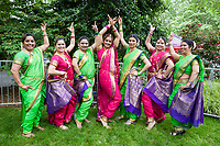 Indian Folk Dancers, NW Folklife Festival, Seattle, WA, USA.