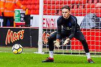 Aberdeen 's (on loan from Newcastle United)  goalkeeper Freddie Woodman (13) for England U21's during the International Euro U21 Qualification match between England U21 and Ukraine U21 at Bramall Lane, Sheffield, England on 27 March 2018. Photo by Stephen Buckley / PRiME Media Images.