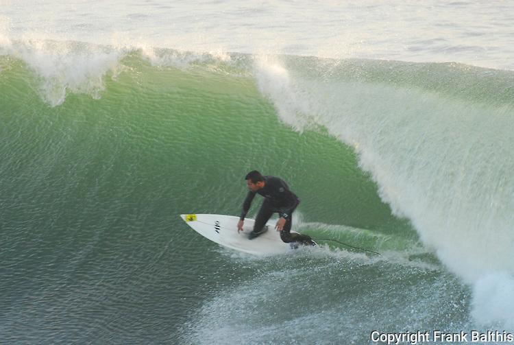 Surfer at Steamer Lane in Santa Cruz