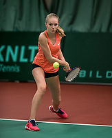 The Hague, The Netherlands, March 17, 2017,  De Rhijenhof, NOJK 14/18 years, Charlotte Wijkamp (NED)<br /> Photo: Tennisimages/Henk Koster