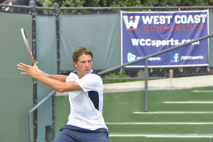 April 26, 2012; San Diego, CA, USA; San Diego Toreros athlete Nikola Bubnic during the WCC Tennis Championships at the Barnes Tennis Center.