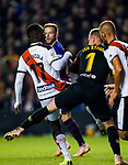 Goalkeeper Marc-Andre Ter Stegen of FC Barcelona trips Luis Advincula of Rayo Vallecano during the La Liga 2018-19 match between Rayo Vallecano and FC Barcelona at Estadio de Vallecas, on November 03 2018 in Madrid, Spain. Photo by Diego Gouto / Power Sport Images