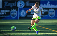 Seattle, WA - Saturday July 23, 2016: Merritt Mathias prior to a regular season National Women's Soccer League (NWSL) match between the Seattle Reign FC and the Orlando Pride at Memorial Stadium.