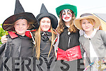 Orla Duffy, Niamh Browne, Ella Greenan and Ciara Ni? Chonchuir (Ventry) dressed up for the parade during Fe?ile na Bealtaine in Dingle over the weekend..
