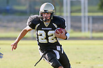 Palos Verdes, CA 10/02/09 - The Vista Murietta Broncos visited the Peninsula Panthers in a non-league contest, won 43-21 by Vista Murietta.  In action are Anthony Papadakis (#22)