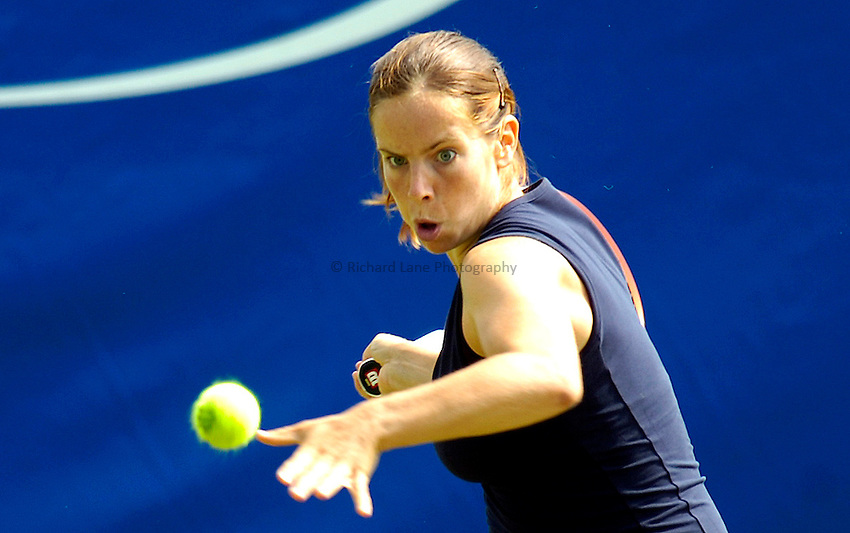 Photo: Alan Crowhurst..WTA The Hastings Direct International Championships, Eastbourne. 19/06/2006. Katie O'Brien of Great Britain.