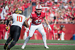 Wisconsin Badgers linebacker Ryan Connelly (43) during an NCAA Big Ten Conference football game against the Maryland Terrapins Saturday, October 21, 2017, in Madison, Wis. The Badgers won 38-13. (Photo by David Stluka)