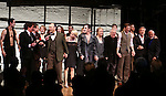 Rob Marshell, Aaron Krohn, Danny Burstein, Michelle Williams, , Alan Cumming, Linda Emond, John Kander, Bill Heck, Gayle Rankin, Sam Mendes and Joe Masteroff during the Broadway Opening Night Performance Curtain Call for 'Cabaret' at Studio 54 on April 24, 2014 in New York City.
