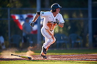 Dartmouth Big Green catcher Kyle Holbrook (9) runs to first base during a game against the St. Bonaventure Bonnies on February 25, 2017 at North Charlotte Regional Park in Port Charlotte, Florida.  St. Bonaventure defeated Dartmouth 8-7.  (Mike Janes/Four Seam Images)